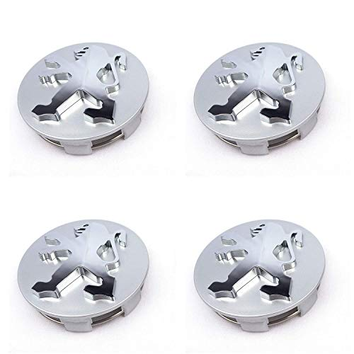 4 Hohe Qualität 60mm Legierung Badge grau chrom