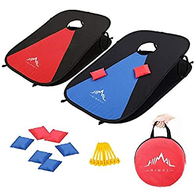 Himal Collapsible Portable Corn Hole Boards With 8 Cornhole Bean Bags (3 x 2-feet) by Himal Outdoors