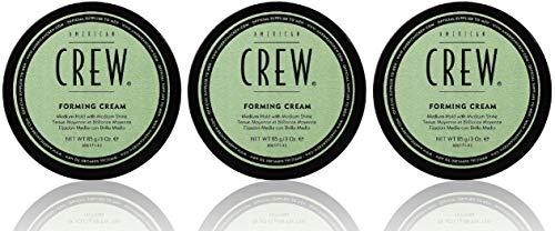 3er American Crew Forming Cream Mittlerer Halt Natürlicher Glanz 85 g
