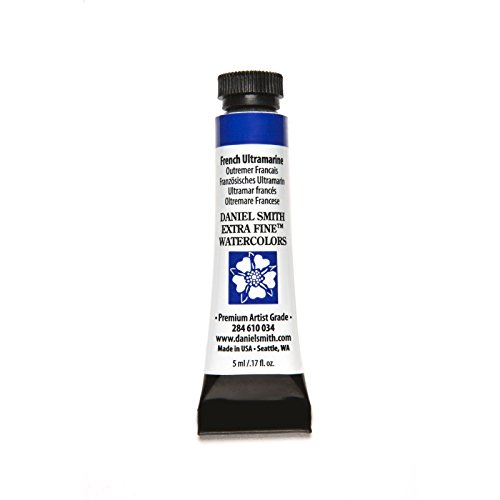 DANIEL SMITH 284610034 Extra Fine Watercolors Tube, 5ml, French Ultramarine
