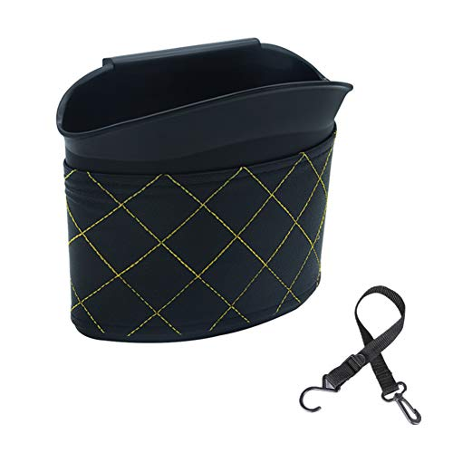Sevend Car Trash Can, Plastic Garbage Bin, Hanging Recycle Universal Best Auto Mini Rubbish Bin Waste Bag Litter Container for Vehicle Office Study Room