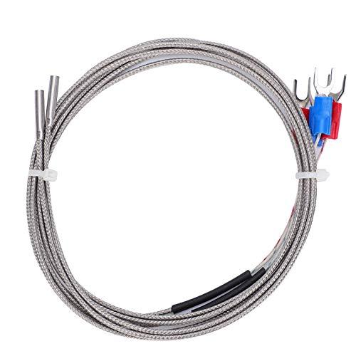 3 x 15 x 1000 Cable de sensor Sensor de temperatura de termistor de tamaño pequeño 4 piezas Accesorios de impresora 3D de termopar tipo K
