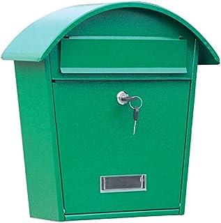 グリーン25 * 11 * 38センチメートル - ロック可能な利用の安全ロックキーホームオフィス私書箱への鉄の壁に取り付けられたロックボックス郵便宅配ボックス細工時計周りミニレターメールのメールボックス