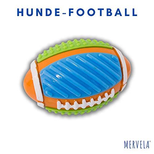 Football Hundespielzeug Ball für kleine, mittelgroße und große Hunde Geräusch Gummi Robust Noppen Bälle Training Spielzeug Hundeball Outdoor Kauen Beissen L XL