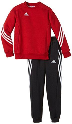 Adidas Sereno 14 Tuta Junior con Felpa Girocollo, Rossa, 12 Anni