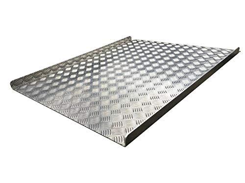 ACCESSMARKET Rampa extraíble Plato de aluminio para personas con movilidad reducida (100 cm)
