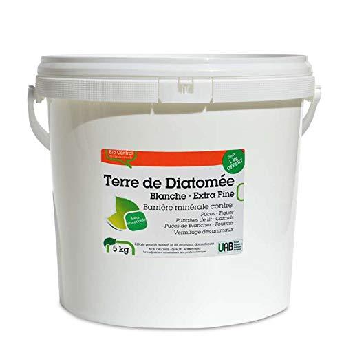 Agro Sens - Terre de diatomée Blanche Extra Pure. Seau 4 + 1 kg Offert