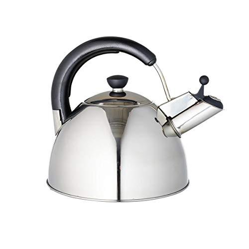 Wasserkessel Taduba | 1 Stück | Edelstahl | 2,5 L | Ø 21 cm | Induktion | Teekocher | Wasserkocher | Flötenkessel | Vintage Stil
