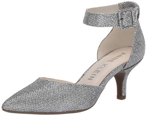 Anne Klein womens Fabulist Ankle Strap Pump, Silver, 9.5 US