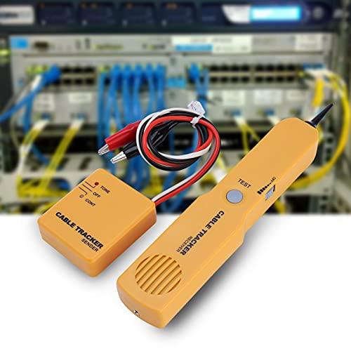 jadenzhou Rastreador de Cables de Red, Probador de Cables portátil, Detector de buscador de línea de Tono Herramienta de Red Amarilla Probador de Cables de Red