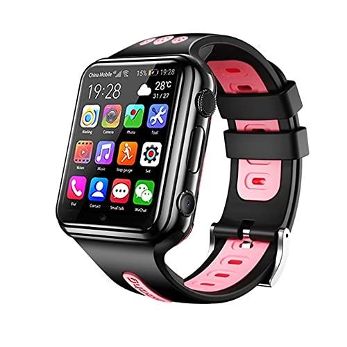 Aorsher 4G Smart Watch Teléfono para Niños, Smartwatches con Rastreador GPS, SOS, Videollamadas, Cámara Y Podómetro, Pantalla Táctil HD, Impermeable (1G + 8G),Negro