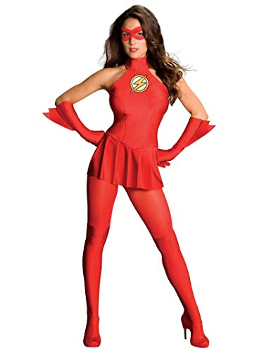 Rubie's offizielles DC Comics Flash Damen-Kostüm, Erwachsenen-Kostüm-Größe M, EU 38 - 40
