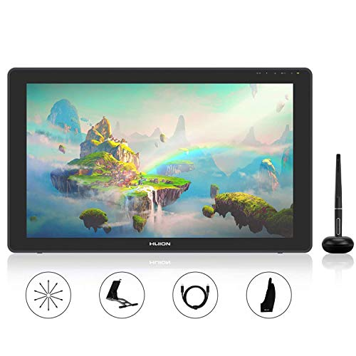2020 HUION KAMVAS 22 Plus Graphics Drawing Tablet with Full-laminated QD Screen 140% s RGB Android Support Ideal for Homeworking & Distance Learning Adjustable Stand - 21.5inch