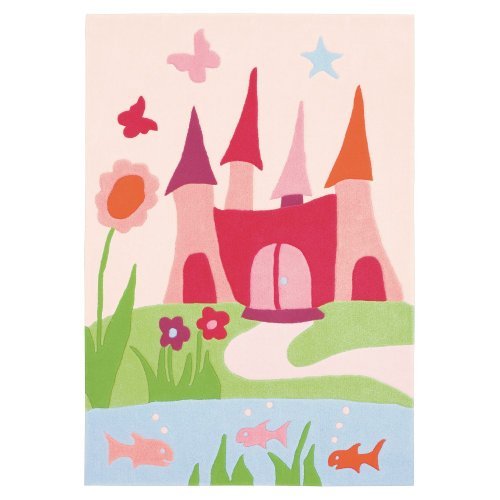 The Playful Burg Kinderteppich pink 110*160cm arte espina 4052-44