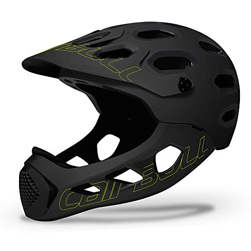 AKDSteel Lightweight Helmet CAIRBULL ALLCROSS Mountain Cross-country Road Bike Cycle Helmet Full Face Extreme Sports Safety Helmet Black Yellow