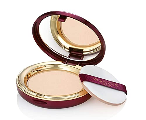 Powder Foundation - WANDER BEAUTY WANDERLUST - Fair - Vegan Makeup - Lightweight Powder Foundation Covers Everything, Silky Smooth, Natural, Matte Finish, Sheer to Buildable Full Coverage