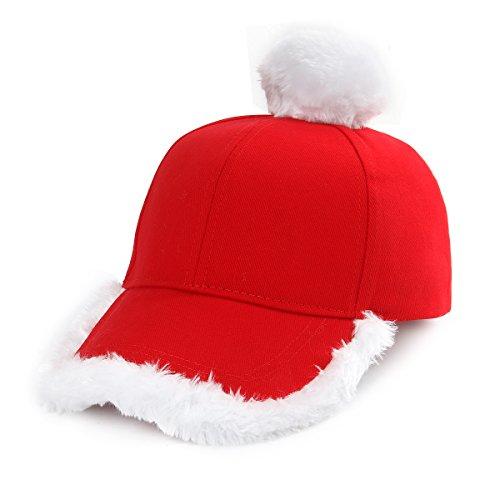 Nofonda Weihnachtsmütze modische rote und weiße festliche Weihnachtsmann Baseballmütze Weihnachtsmütze