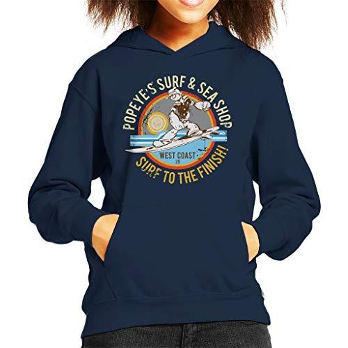 Popeye Surf Sea Shop Sweatshirt met capuchon voor kinderen