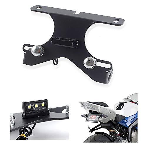 FATExpress Support de plaque d'immatriculation en aluminium CNC pour moto B-M-W S1000R S1000RR HP4 2010 2011 2012 2013 2014 2015 2016 2017 09-18