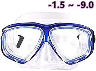 WOWDECOR Snorkel Mask, Diving Snorkeling Mask for Nearsighted Adult Kids, Myopia Myopic Scuba Dive Snorkel Mask with Nears...
