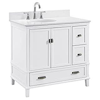 "Dorel Living Otum 36"" Bathroom Vanity, White (B07CT54R9L) | Amazon price tracker / tracking, Amazon price history charts, Amazon price watches, Amazon price drop alerts"