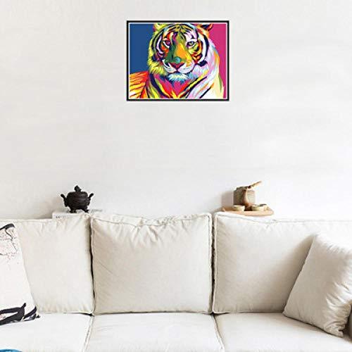 N/X 5D diamant schilderij diamant geborduurd volledige diamant handgemaakte schilderij grote tijger huisdecoratie muurschildering