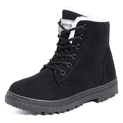 Women's Snow Boots Winter Waterproof II Ankle Boots Suede/Lace Up Cotton Warm Fur Lined Anti-Slip...