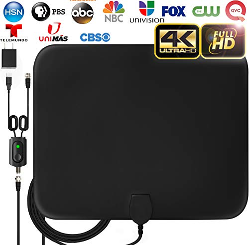 [LATEST 2020] Amplified HD Digital TV Antenna Long 120 Miles Range - Support 4K 1080p Fire tv Stick...