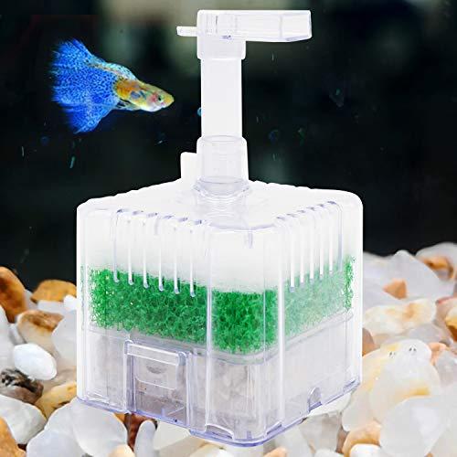 Aihotim Aquarium Sponge Filter, Small Fish Tank Filter Internal Air Driven Sponge with Media for 5-10 Gallon Tank