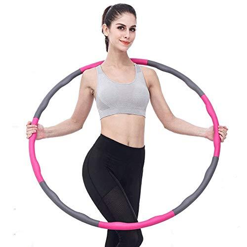 WXH-00 Faltungsfitness Hula-Reifen, einstellbare Breite 26,8-34,6 Zoll mit 8 abnehmbaren Teilen, geeignet für Erwachsene, Jugendliche, Kinder, Frauen Sports Gewichtsverlustgürtel Taille Lineal