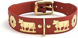 Alpen Schatz Swiss RD-SMALL-RB15 Original Brass Contemporary Dog Collar, 15