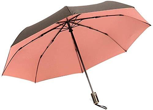 ZJJJD Automatischer Klappschirm Für Frauen, Kompakter Sonnenschirm, Mit 95% Uv-Schutz, Wetterfest Und Regensicher Markise-Free_ 粉 Regenschirm Sturmsicher Lightweight Wunderschönen Rutschsicherem