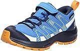 Salomon XA Pro V8 Climasalomon™ Waterproof (impermeable) niños Zapatos de trail running, Azul (Palace Blue/Navy Blazer/Butterscotch), 36 EU