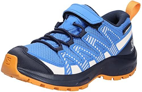 Salomon XA Pro V8 Climasalomon™ Waterproof (impermeable) niños Zapatos de trail running, Azul (Palace Blue/Navy Blazer/Butterscotch), 37 EU