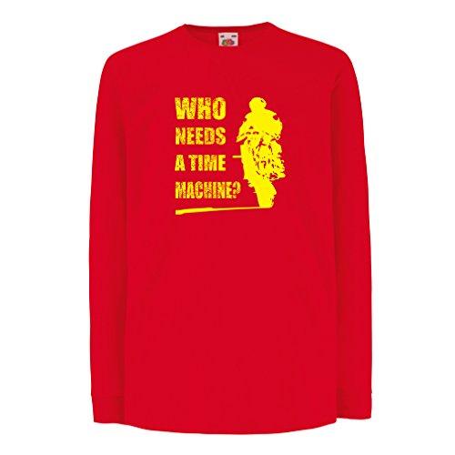 Kinder-T-Shirt mit Langen Ärmeln Motorradkleidung (7-8 Years Rot Mehrfarben)