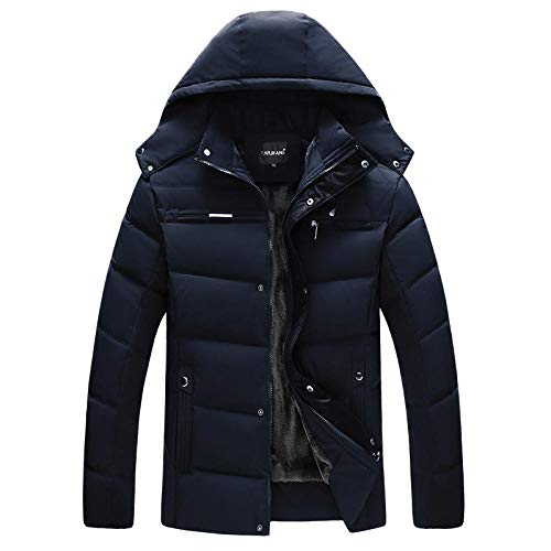 Jianhui Heren Winter Warme jas met capuchon mantel Thick Slim Parkas