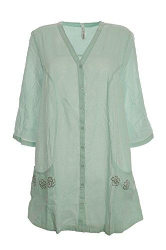 Damen Bluse Gr 48 mintgrün Sheego NEU Frühlingsfarbe