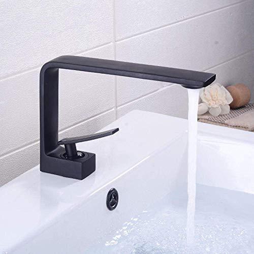 Conveniencia Cuenca del grifo montado cubierta de la manija de la grúa Lavabo individual orificio de baño de agua caliente fría mezclador grifo Garantizar