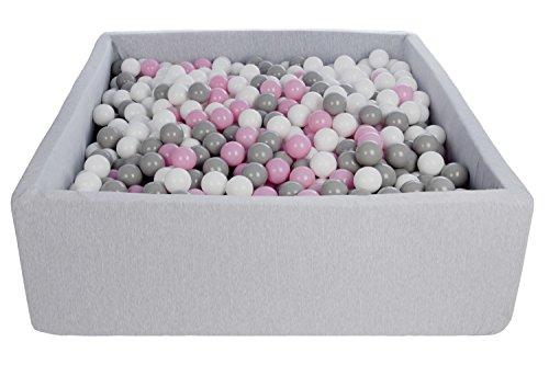 Piscina infantil para ninos de bolas pelotas 1200 piezas, aprox. 120x120cm (Colores...