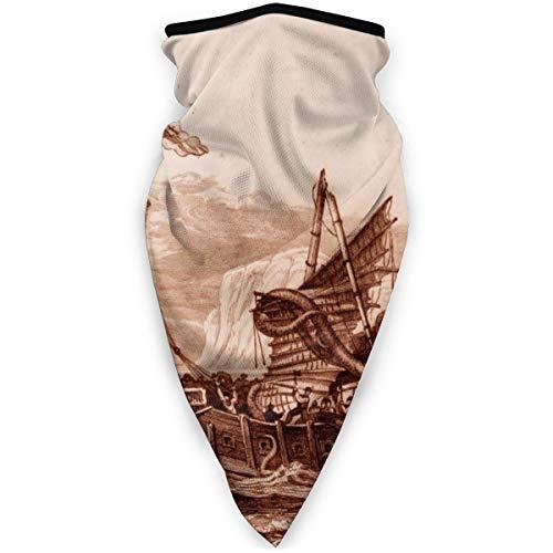 BJAMAJ - Mscara de calamar gigante o pulpo al aire libre, resistente al viento, mscara de esqu, bufanda, pauelo para hombre y mujer