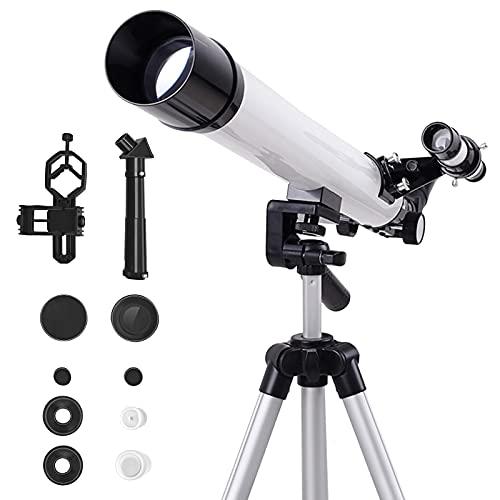 Telescopio astronomico per bambini adulti principianti, 300 x portatile professionale spaziale telescopio astronomico con treppiede regolabile per pianeti lunari