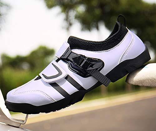 RHSMP Zapatillas de Ciclismo MTB, Zapatillas de Bicicleta de Carretera Ligeras Profesionales,montaña Zapatillas de Ciclismo Transpirables Zapatillas Deportivas de Montar Unisex,Light Blue,40 EU