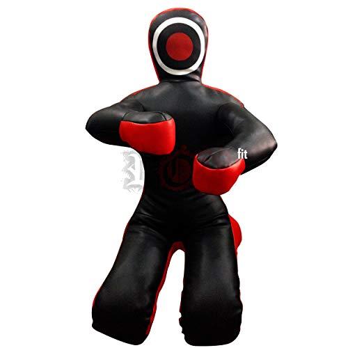"ROX Fit Grappling Dummy Brazilaian JiuJistsu Training Bag Black Red (6 Foot (72"") - 180 cm - Unfilled)"