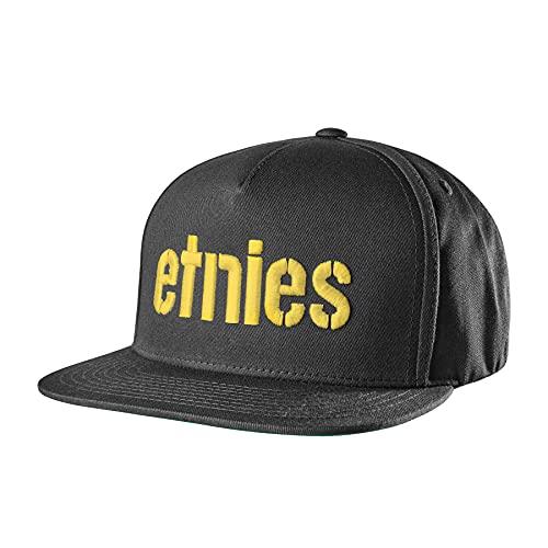 Etnies Hombres Corp Snapback Sombreros ajustables - negro -...