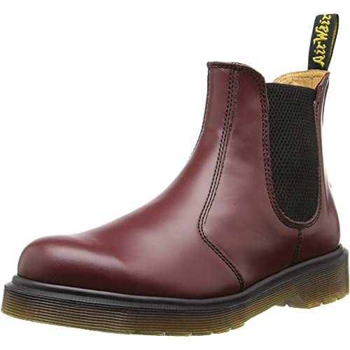 Dr. Martens 2976 Smooth Last 261, Stivali Unisex-Adulto, Rosso (Cherry Red), 48 EU