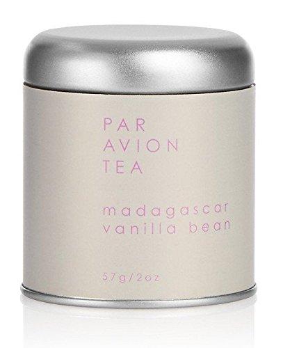 Par Avion Tea Madagascar Vanilla Bean - Black and Green Tea Blend With Freshly Cut Vanilla, Coconut, and Almonds - Small Batch Loose Leaf Tea in Artisan Tin - 2 oz