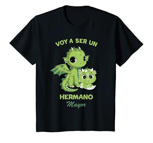 Niños Voy a ser un Hermano Mayor 2022 Dragón Anuncia Embarazo Camiseta