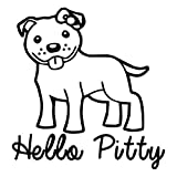 Adorable Hello Pitty Black Vinyl Decal Sticker for 13' Macbook Apple Laptop Computer