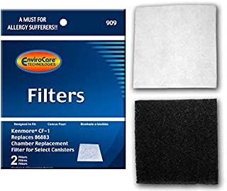 Best EnviroCare Premium Replacement Vacuum Cleaner Filters made to fit Kenmore Sears Progressive CF1, Progressive & Whispertone, Panasonic Vacuum Cleaners, 86883, 86880, 20-86883, 2 filters Review