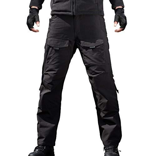 FREE SOLDIER Men's Outdoor Tactical Pants Ripstop Military Combat EDC Cargo Pants Lightweight Hiking Work Pants (Black 36W/34L)